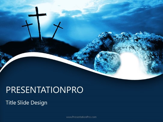 crucifixion resurrection powerpoint template background in religious