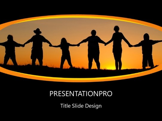 Family Unity PowerPoint template background in Religious