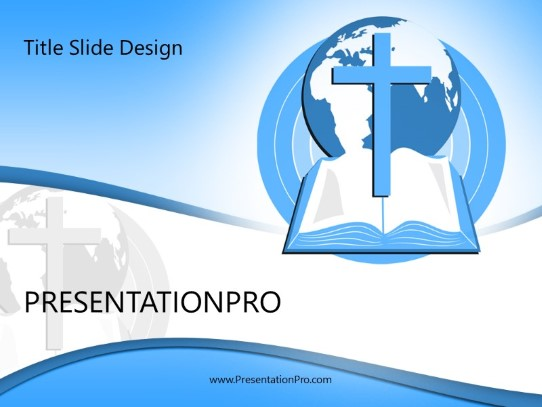 World Religion Blue Powerpoint Template Background In