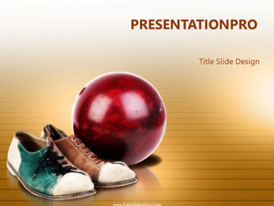 Bowling Time PowerPoint template background in Sports and