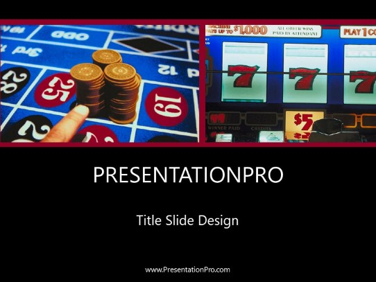 Gambling Powerpoint Template Background In Sports And