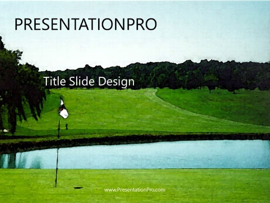 Golf Powerpoint Template Background In Sports And Leisure