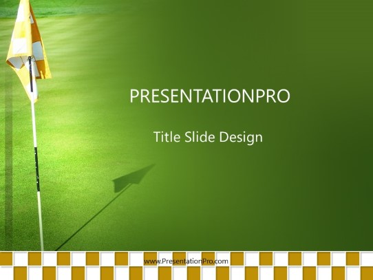 Golf Flag Powerpoint Template Background In Sports And