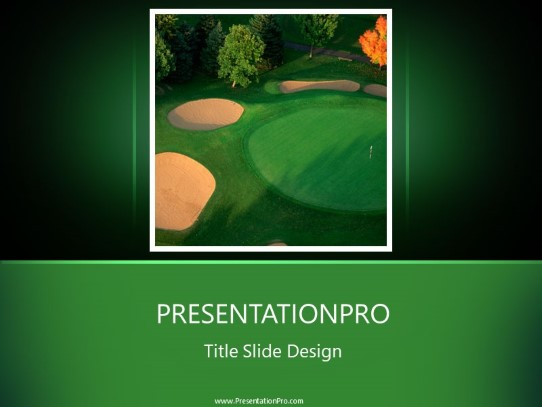 Golf Landscape Powerpoint Template Background In Sports And