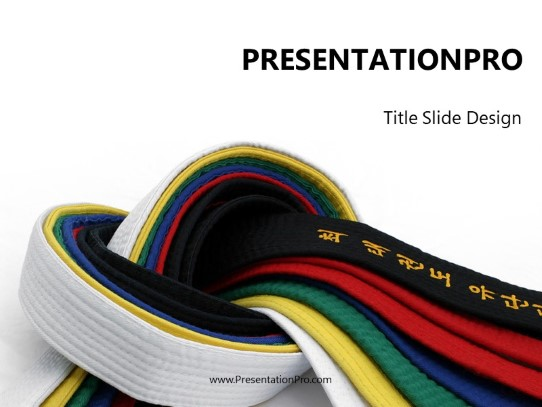 martial arts powerpoint template background in sports and