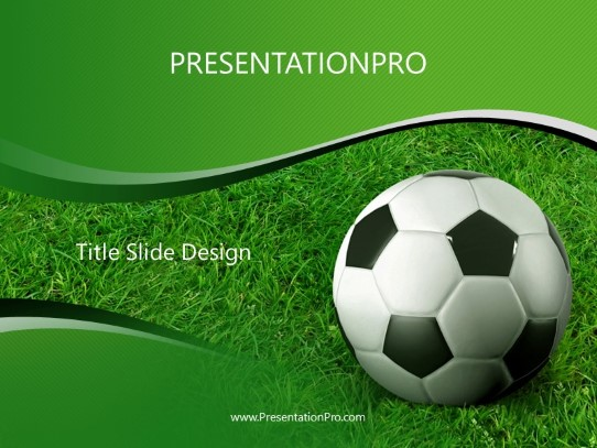 Soccer Grass Powerpoint Template Background In Sports And Leisure