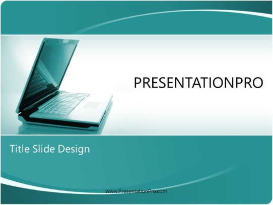 Laptop Style Teal Powerpoint Template Background In Technology Computers Powerpoint Ppt Slide Design Category The Best Powerpoint Templates And Backgrounds At Presentationpro Com