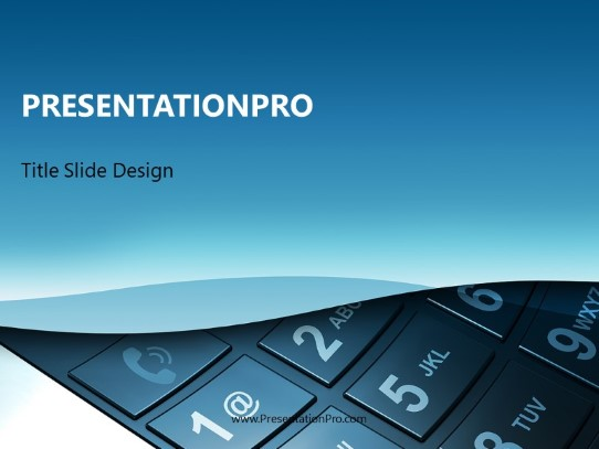 Mobile Cell Phone PowerPoint template background in Technology