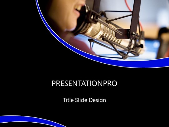 Radio Voice PowerPoint template background in Technology - Computers