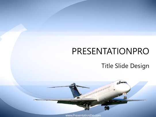 Aircraft Powerpoint Template Background In Transportation Powerpoint