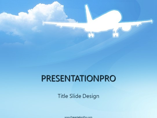 Airplane Icon Powerpoint Template Background In Transportation
