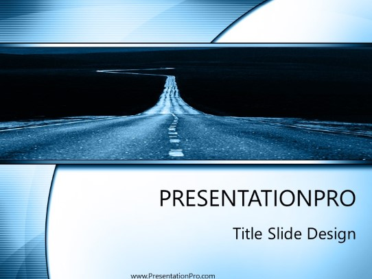 Road Powerpoint Template Background In Transportation Powerpoint Ppt