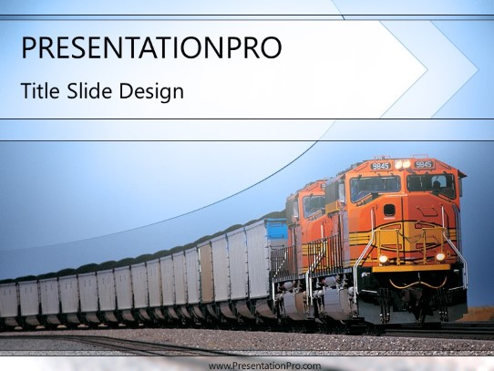 train 02 powerpoint template background in transportation powerpoint