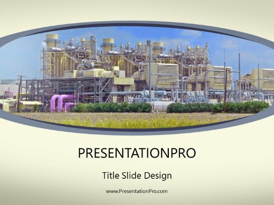 Power Plant PowerPoint template background in Utilities