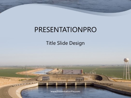 Water Aqueduct Powerpoint Template Background In Utilities