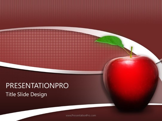 Teachers Apple Powerpoint Template Background In Education And
