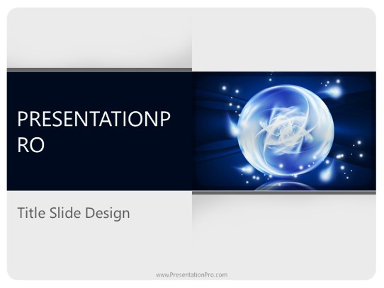 fantasy crystal ball powerpoint template background in powerpoint
