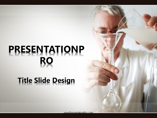 Doctor Beaker Pour Powerpoint Template Background In Medical Healthcare Powerpoint Ppt Slide Design Category The Best Powerpoint Templates And Backgrounds At Presentationpro Com