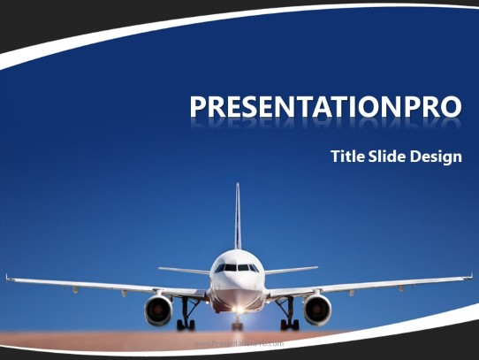 travel by airplane powerpoint template background in powerpoint 2007