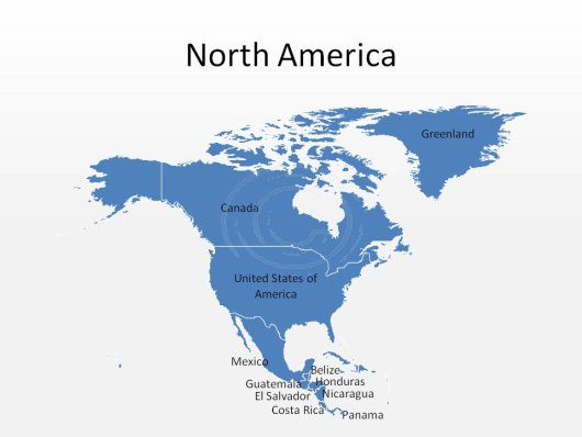 North America PowerPoint Map Shape 100% Editable In