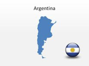 Download High Quality Royalty Free Argentina PowerPoint Map Shapes - Argentina map shape