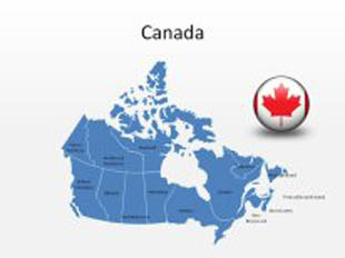 Download High Quality Royalty Free Canada PowerPoint Map ...