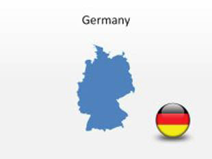 Download High Quality Royalty Free Germany PowerPoint Map Shapes - Germany map shape