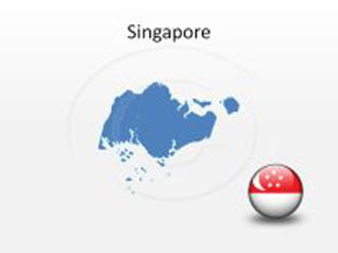 Singapore PowerPoint Map Shape. 100% editable in PowerPoint!