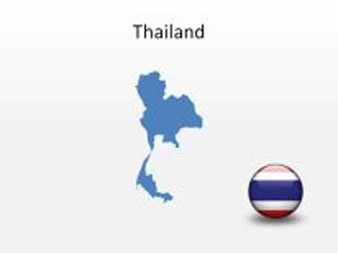 thailand powerpoint map shape 100 editable in powerpoint