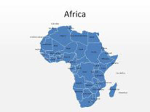 download high quality royalty free africa powerpoint map shapes for