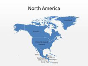 Download High Quality Royalty Free North America PowerPoint Map ...