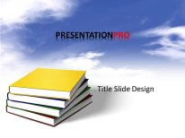 download royalty free animated books in clouds animated powerpoint, Modern powerpoint