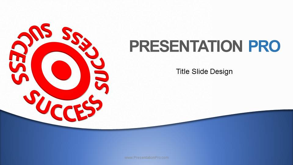 Download Royalty Free Success On Target Blue Widescreen Animated