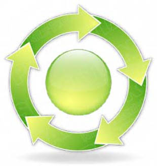 Download arrowcycle a 5green PowerPoint Graphic and other software plugins for Microsoft PowerPoint