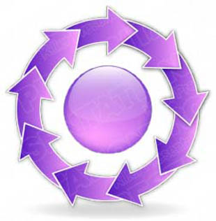 Download arrowcycle a 9purple PowerPoint Graphic and other software plugins for Microsoft PowerPoint
