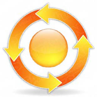 Download arrowcycle b 4orange PowerPoint Graphic and other software plugins for Microsoft PowerPoint