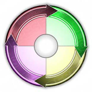 Download arrowwheel 08 PowerPoint Graphic and other software plugins for Microsoft PowerPoint