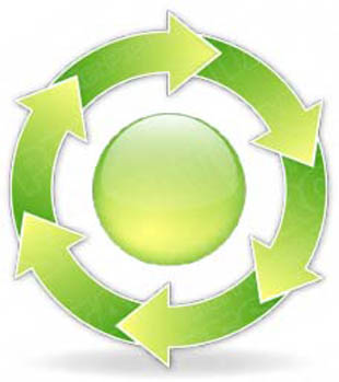 Download arrowcycle a 6green PowerPoint Graphic and other software plugins for Microsoft PowerPoint