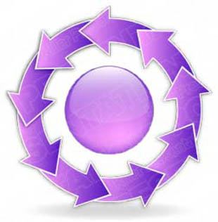 Download arrowcycle b 9purple PowerPoint Graphic and other software plugins for Microsoft PowerPoint