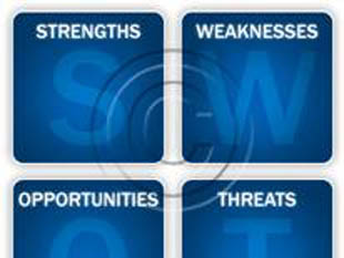 SWOT Analysis Blue PPT PowerPoint picture photo