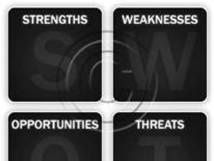 SWOT Analysis Gray PPT PowerPoint picture photo