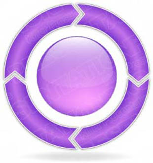 Download ChevronCycle A 4Purple PowerPoint Graphic and other software plugins for Microsoft PowerPoint