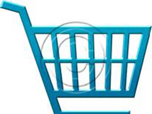 Shopping Cart Style Light Blue PPT PowerPoint picture photo