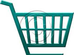 Shopping Cart Style Teal PPT PowerPoint picture photo