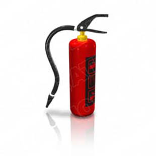download high quality royalty free fire extinguisher 01 powerpoint, Powerpoint templates