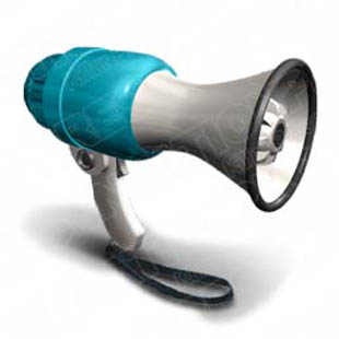 Download megaphone cyan PowerPoint Graphic and other software plugins for Microsoft PowerPoint