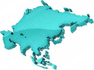 Map Of Asia 3d.Download High Quality Royalty Free Map Asia Teal Powerpoint Graphics