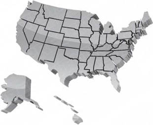 Download High Quality Royalty Free Map Usa Borders Grey PowerPoint ...