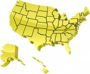 download high quality royalty free map usa borders yellow powerpoint