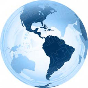 Download 3d globe americas blue PowerPoint Graphic and other software plugins for Microsoft PowerPoint
